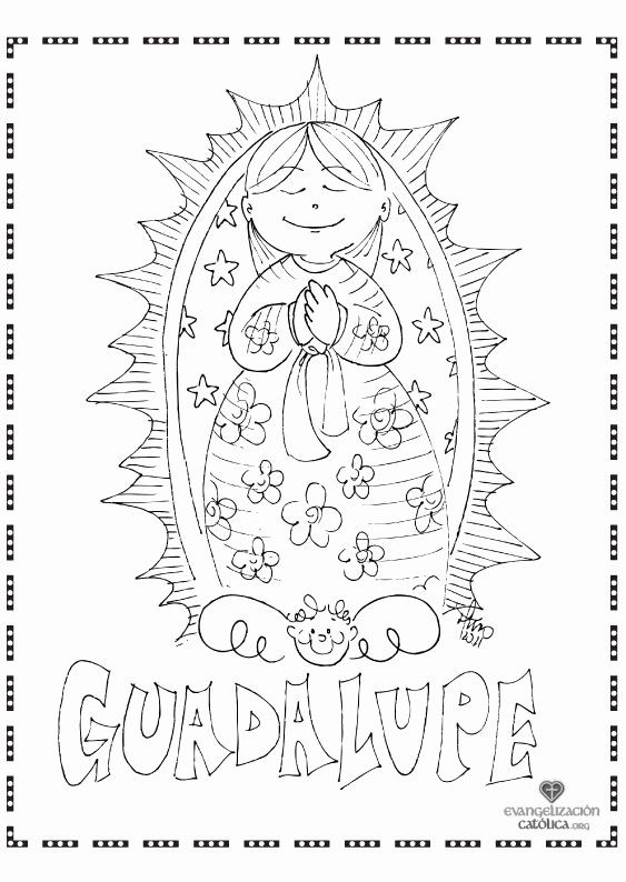 Our Lady Of Fatima Coloring Page New Our Lady Of Guadalupe Clipart