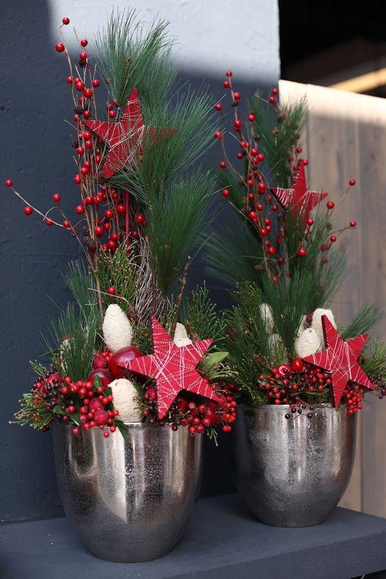 weihnachtliche gesteckideen deko pinterest. Black Bedroom Furniture Sets. Home Design Ideas