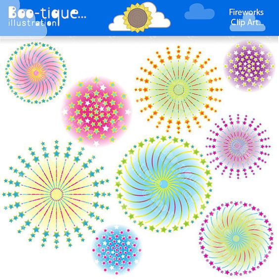 Fireworks Clipart set for Instant Download.    • Fireworks Clip Art Set.    • All Clip Art graphics are between 7-8 inches at the widest but