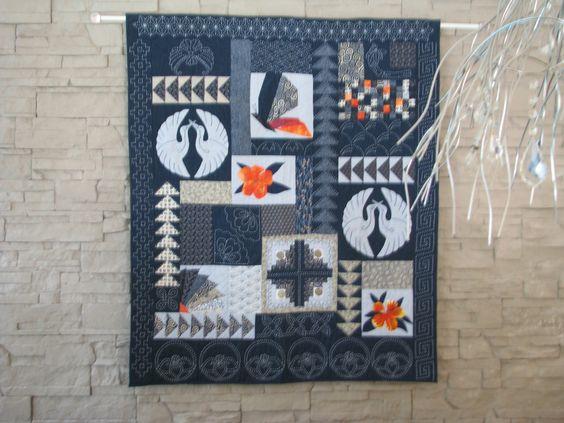 QUILT *MON ASEAN* inspiration asiatique quilté main : Textiles et tapis par…