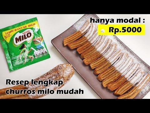 Hanya Modal Rp 5000 Bisa Buat Churros Milo Enak Resep Mudah Youtube Churros Resep Kue Cokelat