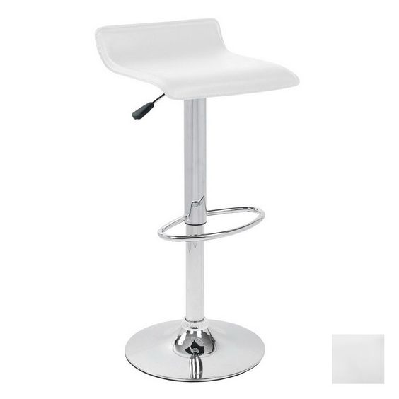 Shop Lumisource Ale Chrome 34-in Adjustable Stool at Lowes.com