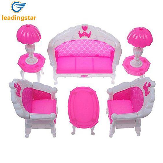 6 teile paket puppenhaus möbel wohnzimmer parlour sofa stuhl set - barbie wohnzimmer möbel