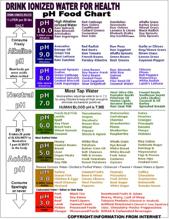 How to Make the Body More Alkaline Food charts, Chart and Food - sample oil filter cross reference chart