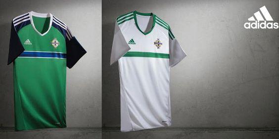 Ceci est le nouveau Maillots de football Euro 2016 de Équipe d'Irlande du Nord de football.: