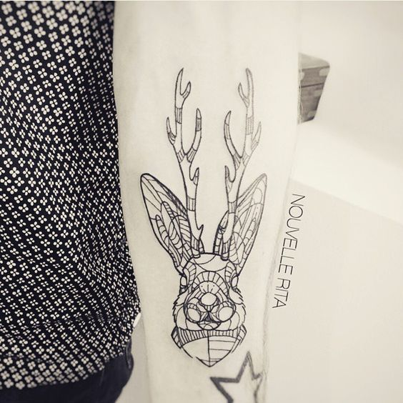 ➕ Artist : Nouvelle Rita ➕ Check our Tattoo social network :  www.sorrymummy.com  #tattoo #tattooedlife #tatuajes #tattooist #tattoolife #tattooedboy #tattooartist #inked #picoftheday #studio #tatouage #boywithtattoos #gallery #tat #blackwork #sorrymummytattoo #amazing #rabbit #geometrytattoo #tattoos #tattoolife