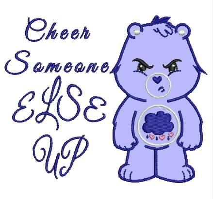 Grumpy Bear #CareBear https://www.etsy.com/shop/DuchessEmbroidery?ref=si_shop