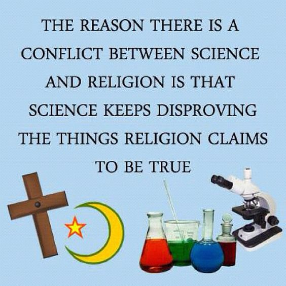 Why religion and science are in conflict