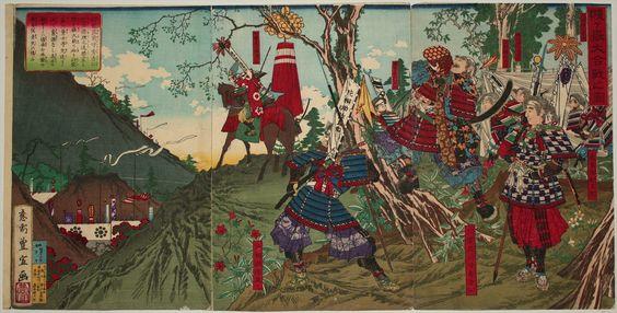 歌川豊宣 1883_賤ヶ嶽大合戦之図, 賤ヶ岳七本槍