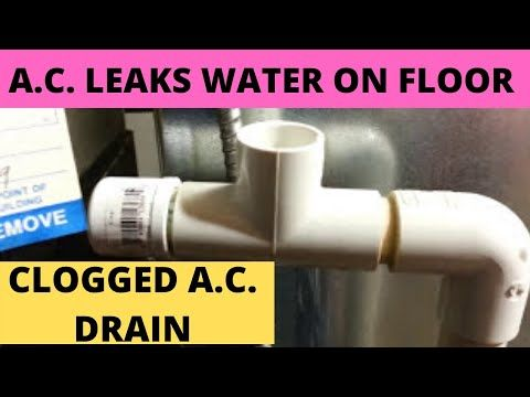 Central Air Conditioner Leaks Water On Floor Part 1 Clogged Ac Drain Line Diy Youtube In 2020 Central Air Conditioners Central Air Air Conditioner