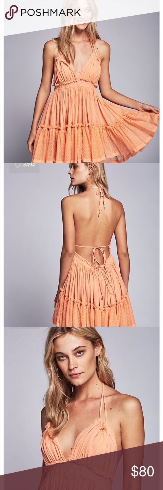 Free People Rare 100 Degrees Dress Peach Small This is the rare, sold-out small peach 100 Degrees dress from Free People! It is $85 with shipping on their site. Free People Dresses Mini
