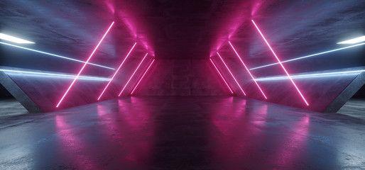 Sci Fi Futuristic Alien Tunnel Ship Corridor Underground Laser