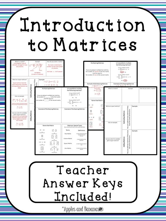 math worksheet : introduction to matrices  interactive notebook activities  : Adding And Subtracting Matrices Worksheet