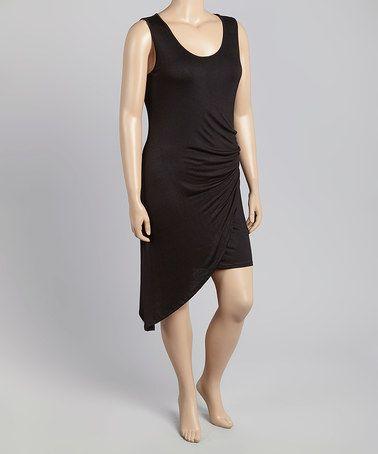 Look what I found on #zulily! Black Asymmetrical-Hem Sleeveless Top - Plus by Zenobia #zulilyfinds