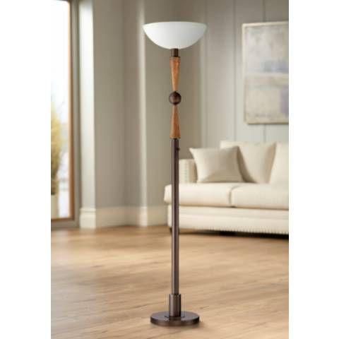 Hunter 72 High Torchiere Floor Lamp By Franklin Iron Works 55t99 Lamps Plus Torchiere Floor Lamp Retro Floor Lamps Floor Lamp