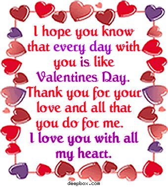 happy valentine for you