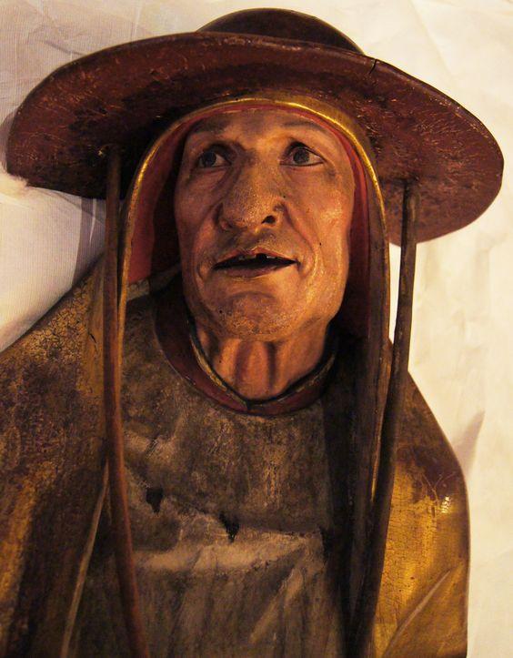 Détail sculpture  du Retable d'Issenheim Sculpteur : Nicolas de Haguenau http://www.musee-unterlinden.com/grunewald-retable-d-issenheim: