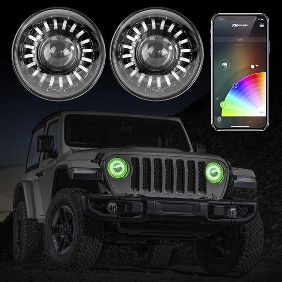 Xkglow Chrome 7 Rgb Led Jeep Wrangler Tj Jk Jl Jt Headlights Xkchrome With Images Jeep Wrangler Accessories Jeep Wrangler Jeep Wrangler Tj