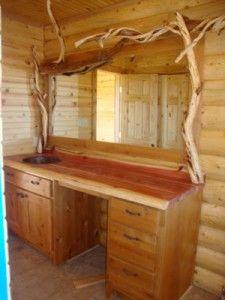 Knotty Alder Bathroom Vanity Mirror Dream Housing Pinterest Posts Toilets And Old Fences