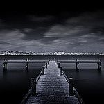 Kinda Blue ~ White Rock Lake Pier T1 por Mabry Campbell