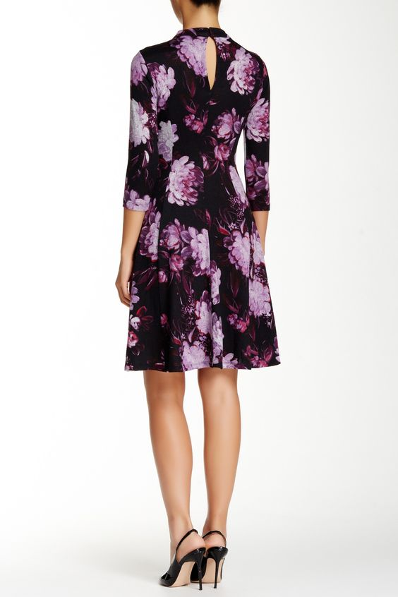 Maggy London | Elbow Sleeve Fit & Flair Dress (Petite) | Nordstrom Rack  Sponsored by Nordstrom Rack.