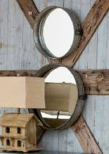 Industrial metal drum mirror