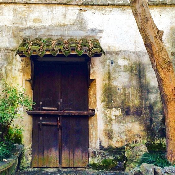 A door of many colours!Zhouzhuang - water town in China
