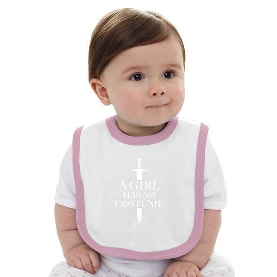 A Girl Has No Costume Baby Bib