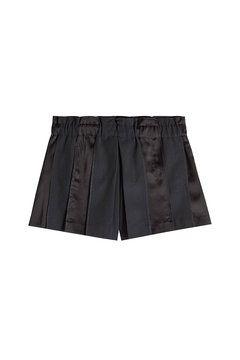 Wool Shorts with Satin    DKNY