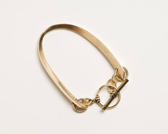 Brass Horseshoe Bracelet by ShallaWistaStudio on Etsy, $140.00