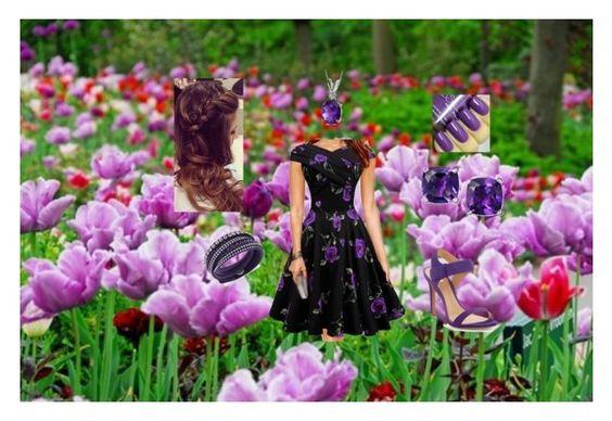 Violet Spring outfit by arianachristina on Polyvore featuring polyvore fashion style Schutz Swarovski Oravo clothing