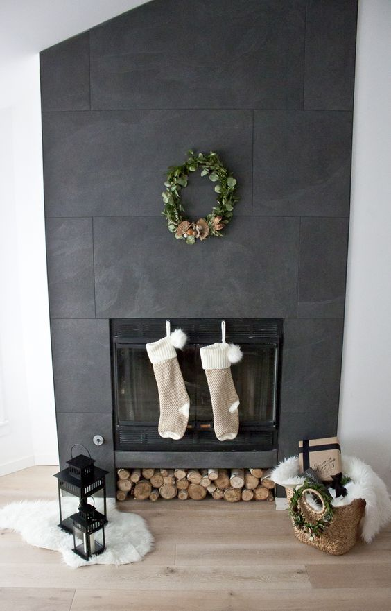 festive fireplace decor, Christmas Fireplace Decor