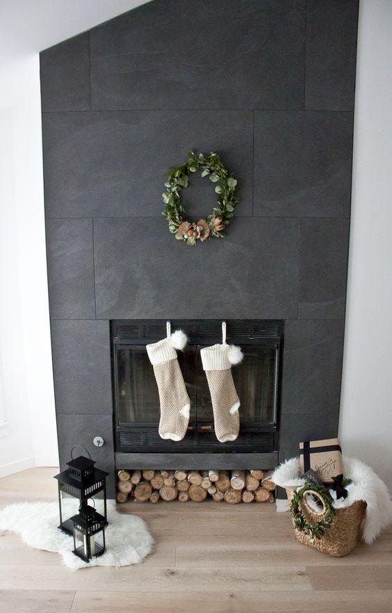 festive fireplace decor, Christmas Fireplace Decor