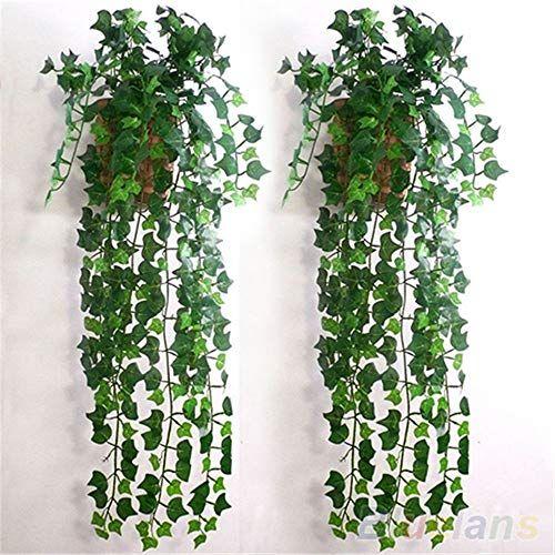 Marjon Flowersartificial Ivy Leaf Garland Plants Vine Fake Foliage Home Room Wall Decor Silk Flower Arrangements Hanging Plants Artificial Hanging Plants Artificial Flowers
