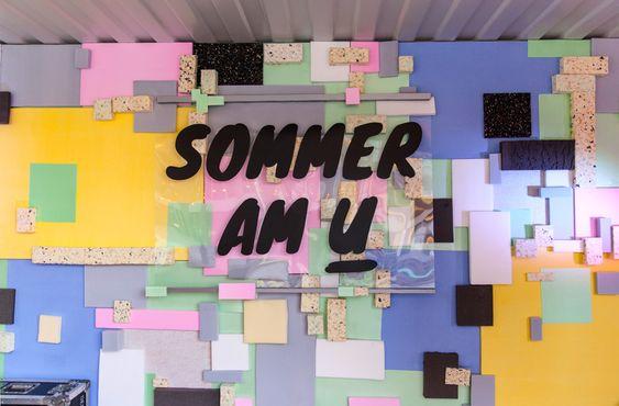 SOMMER AM U 2015- VERANSTALTUNGSARCHITEKTUR   INSZENIERUNG : PRINZTRÄGER   Rauminszenierung und Design