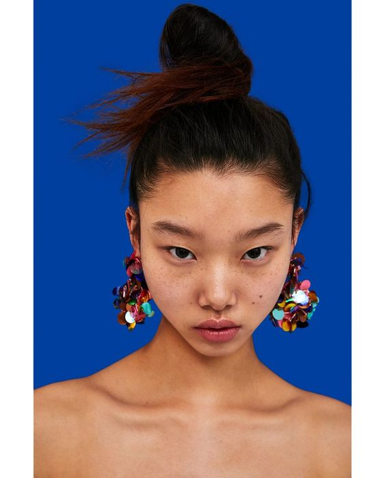ZARA - WOMAN - COLOURFUL SEQUIN EARRINGS