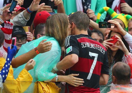 Bastian Schweinsteiger Sarah Brandner Photos: USA v Germany: Group G