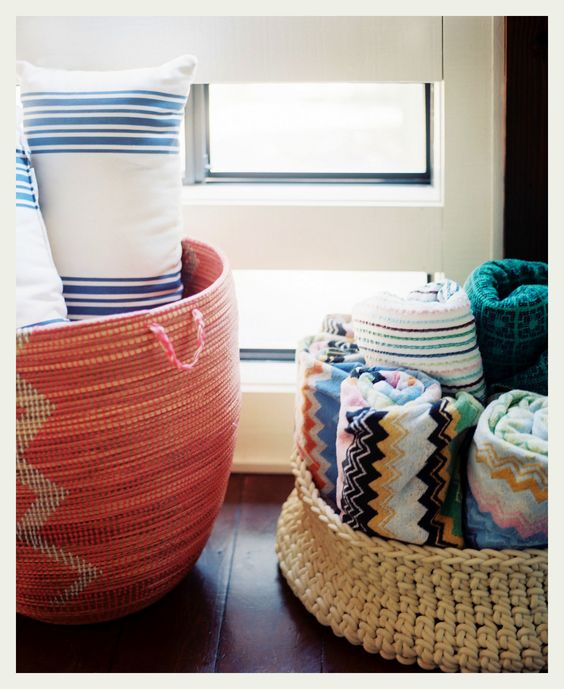 Pool Towel Storage: