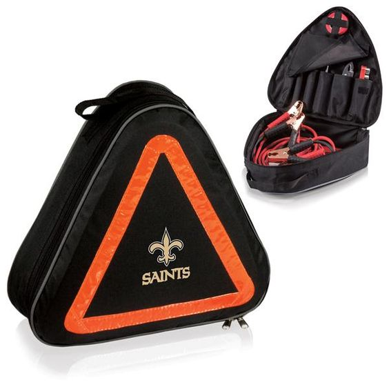 nice New Orleans Saints Digital Print Roadside Emergency Kit Black