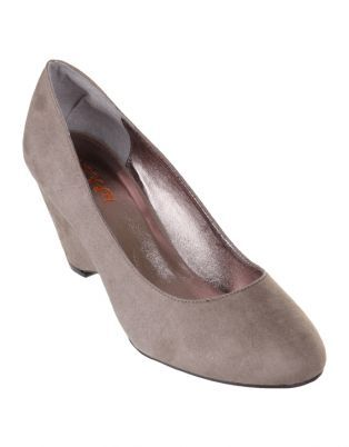 Trying to decide - vailable in red, grey or black - only $40 but synthetic suede. Wedge Heel very  cute and wearable