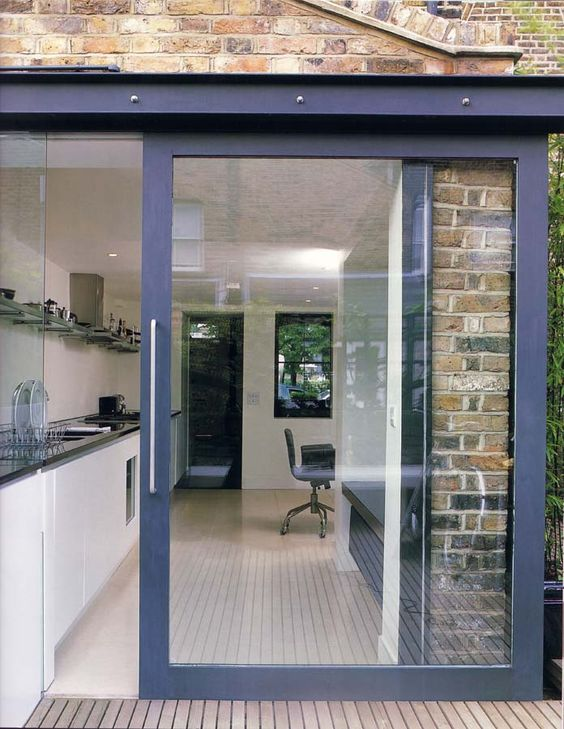Large exterior sliding door good for wheelchairs for Front door with large window