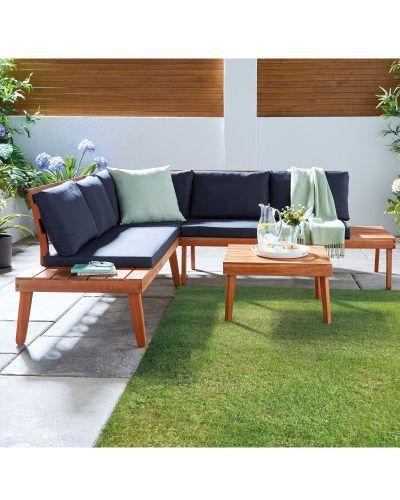 Small Wooden Garden Corner Sofa - Sofa Design Ideas