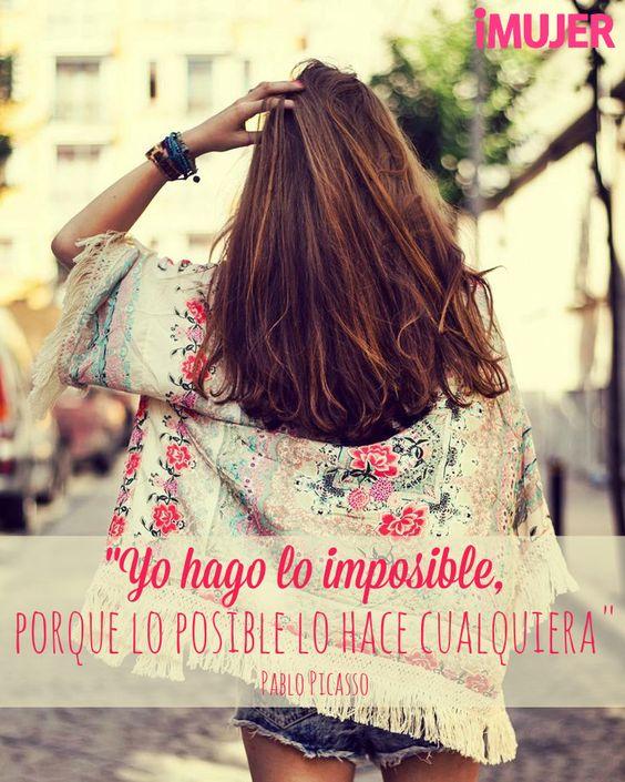 #Frases #PabloPicasso Yo hago lo #imposible, porque lo posible lo hace cualquiera.:
