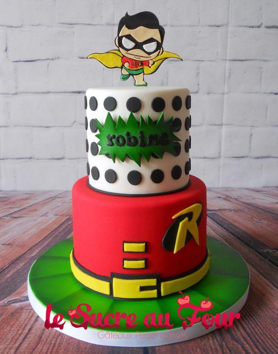 Robin cake, robin chibi cake (batman and robin)