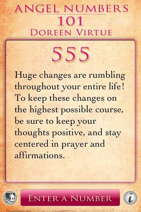 Numerology: Angel Number 555 Meaning (Doreen Virtue) | #numerology #angelnumbers