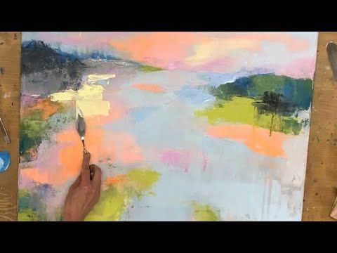 Abstract Painting Acrylic For Beginners Spatula Colorful Landscape Youtube Abstract Landscape Painting Abstract Painting Landscape Painting Tutorial