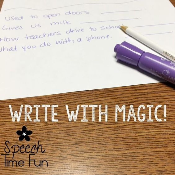Keep Your Speech Students Motivated By Writing with Magic and Work On ANY Speech Goal!