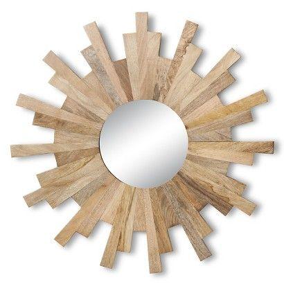 Threshold Wooden Sunburst Wall Mirror At Target