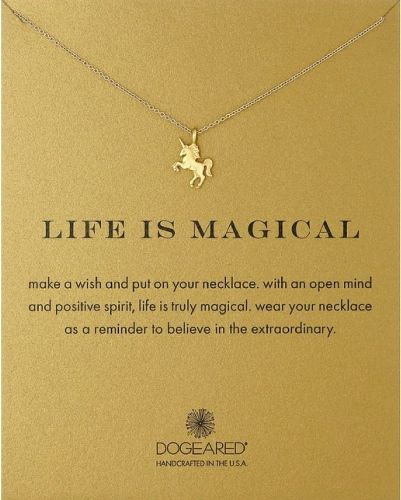 Life Is Magical Unicorn Necklace. Christmas gifts for teen girls.