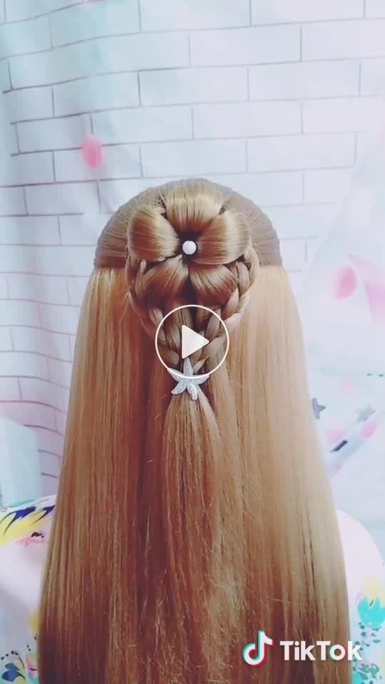 Petal Hairstyle Do U Like It Cute Fairy Princess Pure Pretty Goddess Rapunzel In 2020 Haarfarben Frisuren Kinderfrisuren